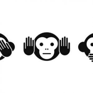 Three Wise Little Monkeys